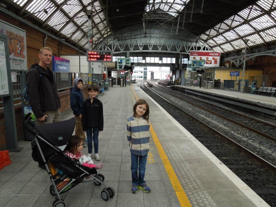 malahide castle, train, dublin, ireland, train trips