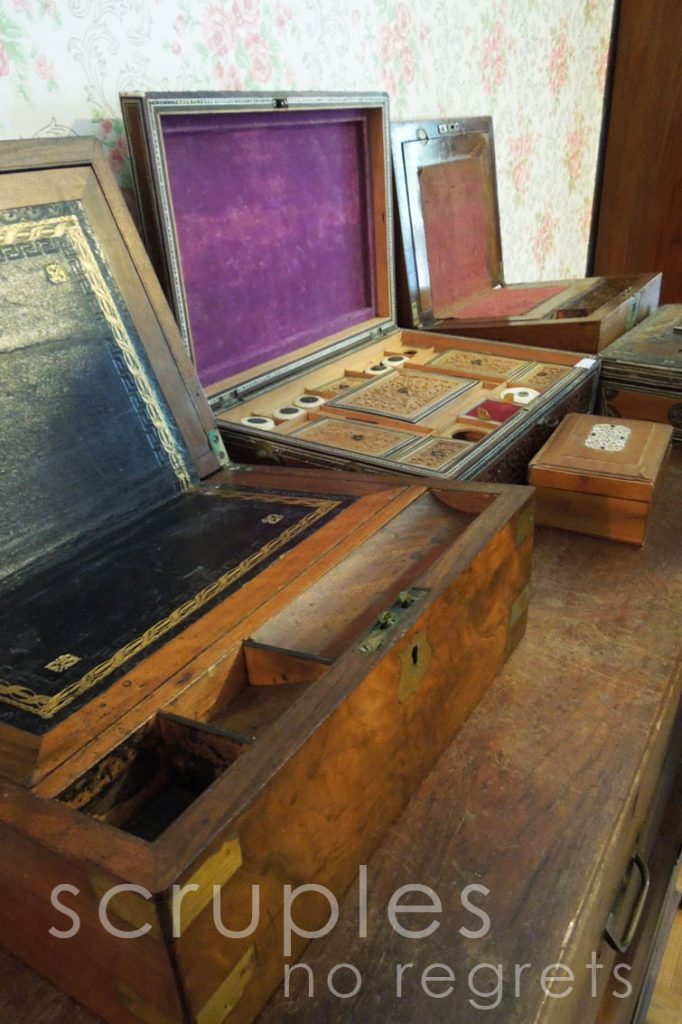 Lotabeg, antique sewing box, antique writing box
