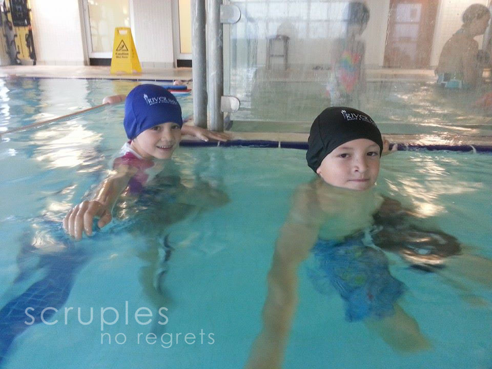 The kids enjoying the pool at the Leisure Center at the Auburn Lodge in Ennis.